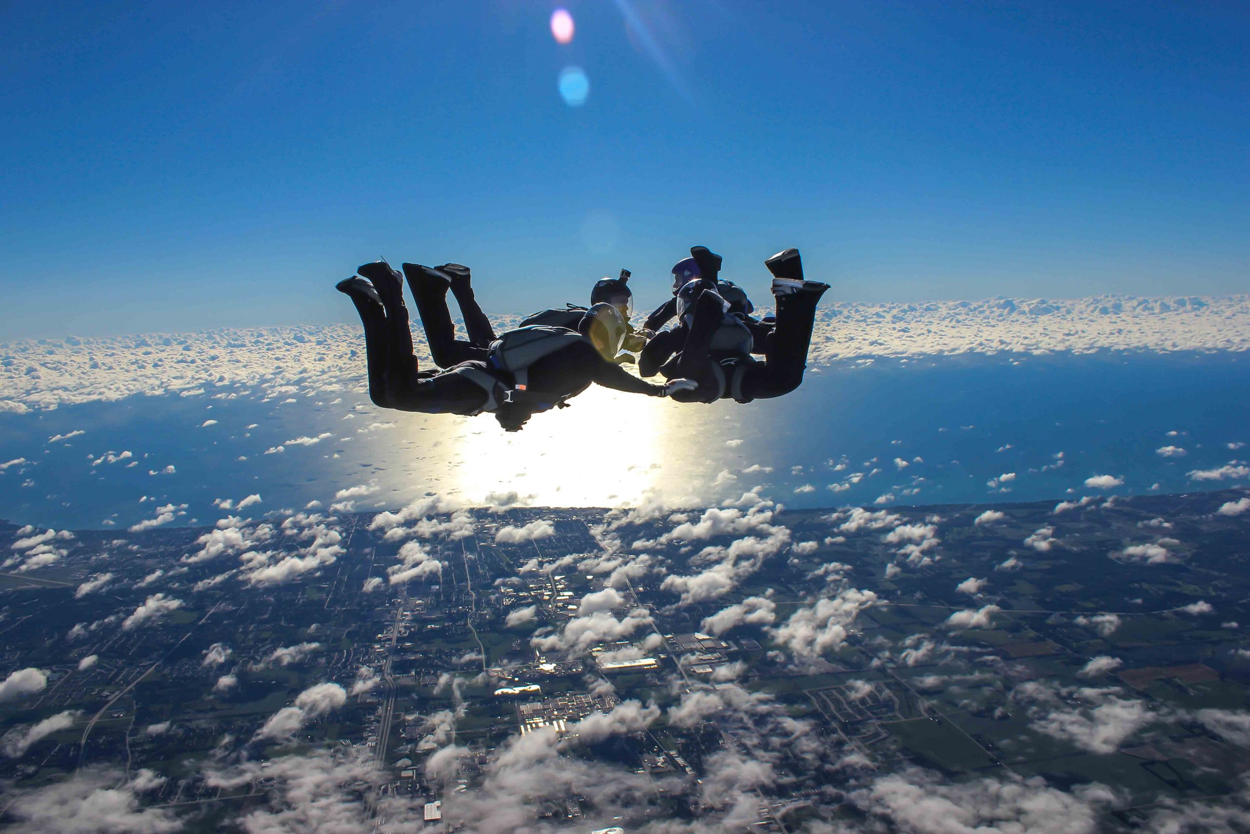 Skydiving Skydive Midwest NEXT 4Way Team Lake Michigan Chicago Milwaukee SDMW NEXT XP
