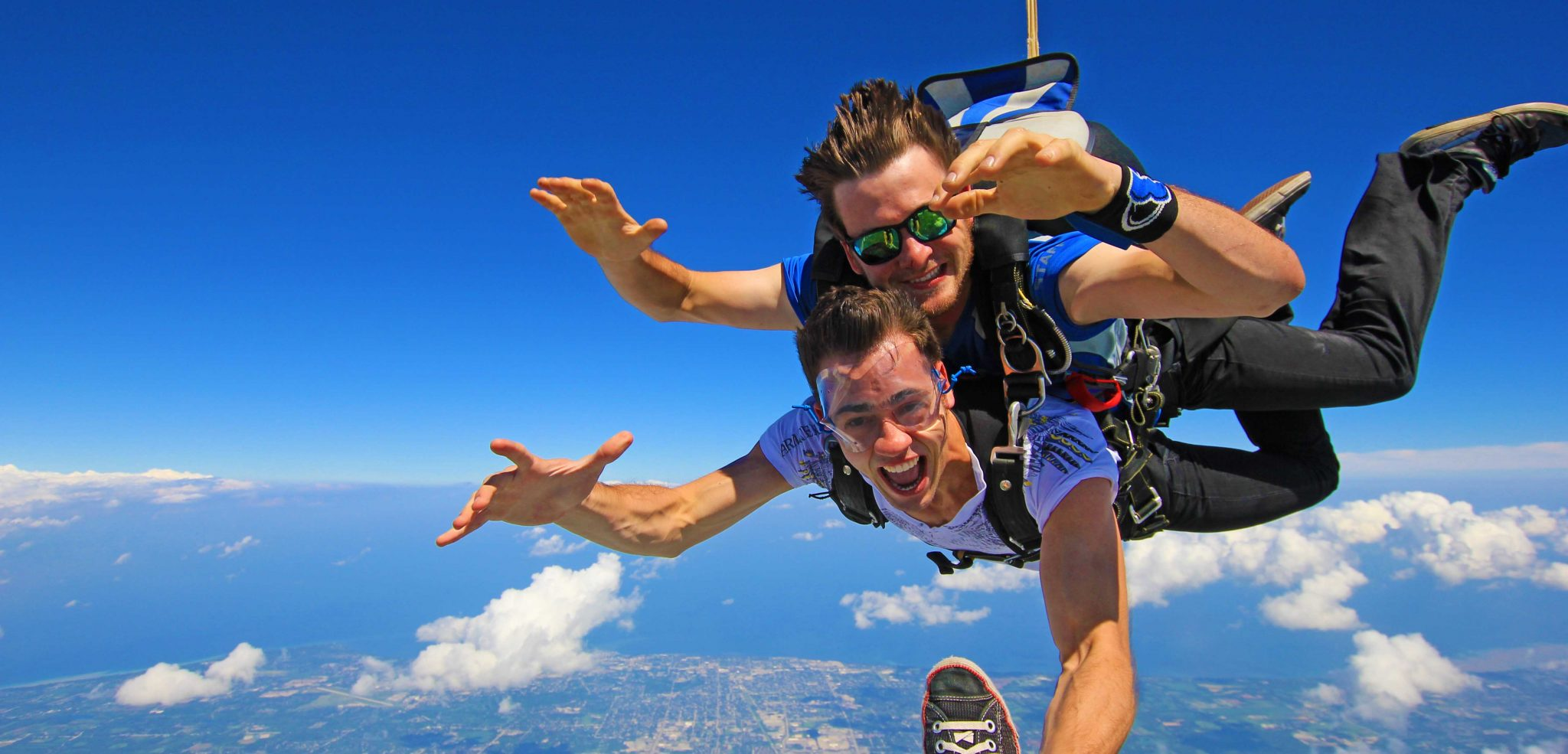 Skydiving in northern michigan