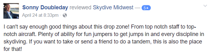 skydiving in the midwest review chicago milwaukee wisconsin