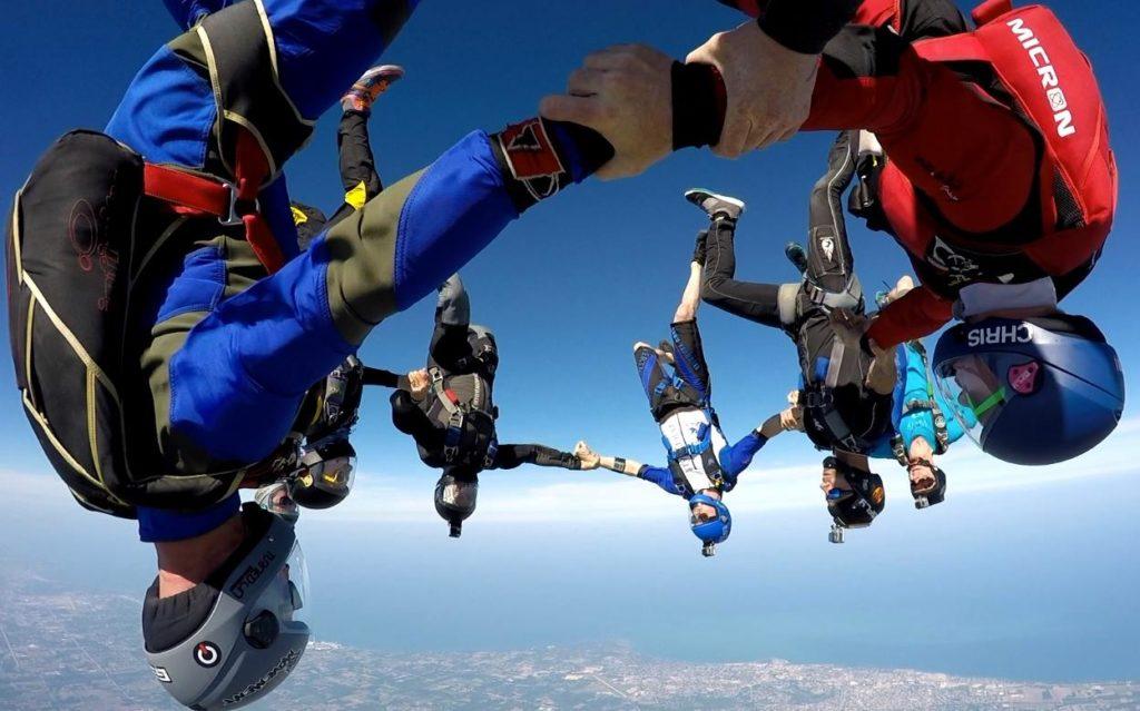 Head Down Skydiving