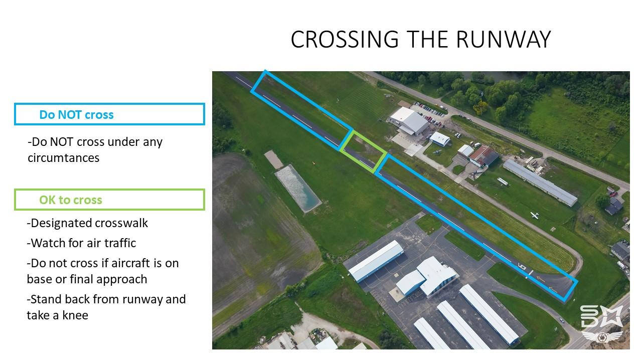 Crossing the runway