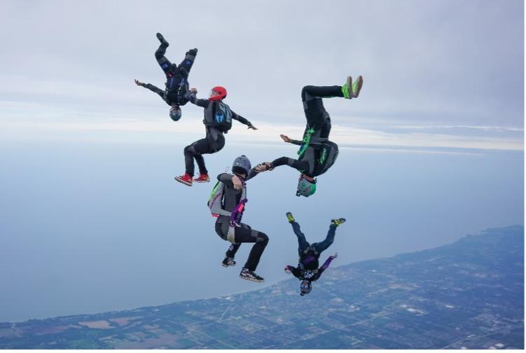 Skydiving Discipline - Vertical Formation Skydiving