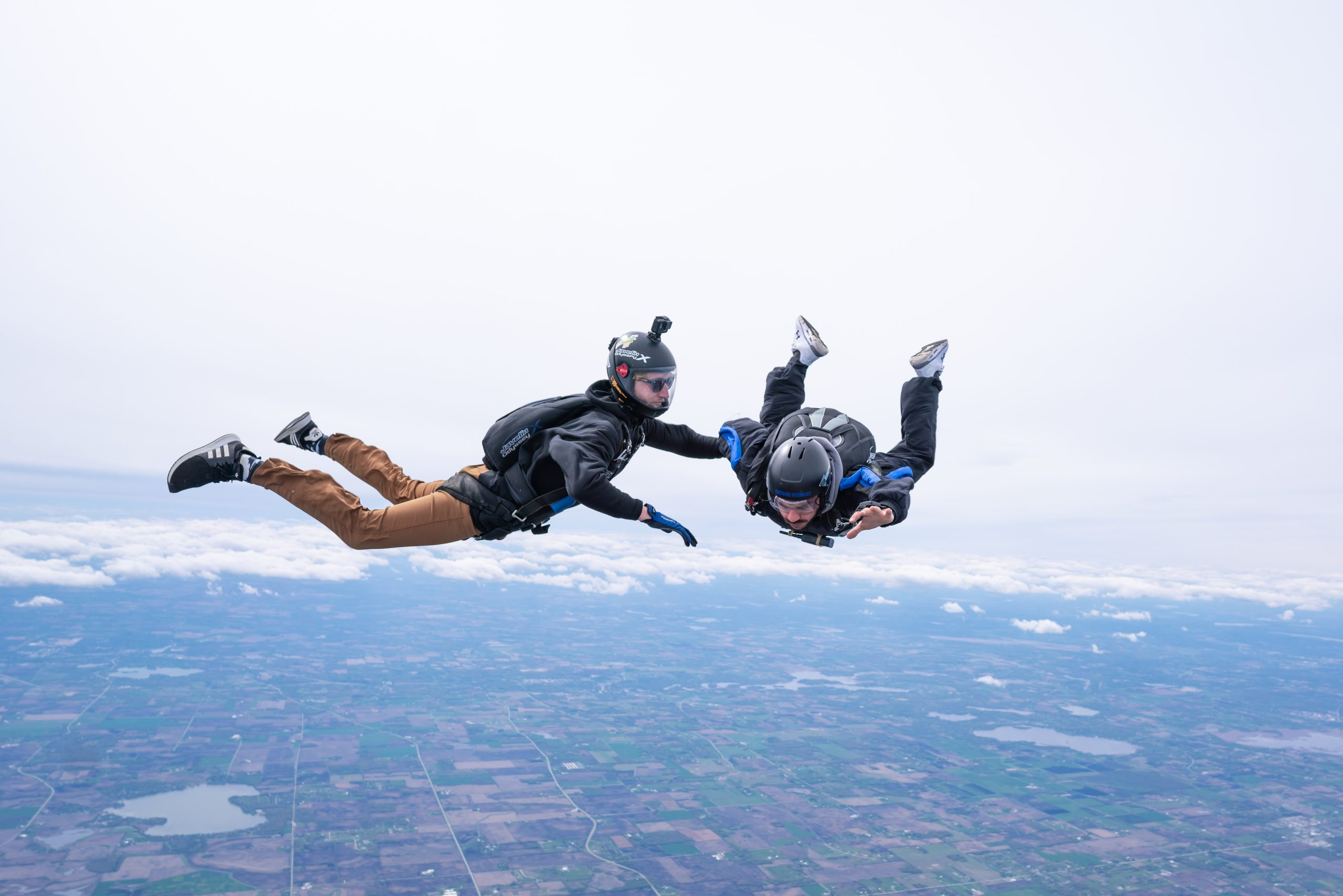 accelerated free fall solo skydivers