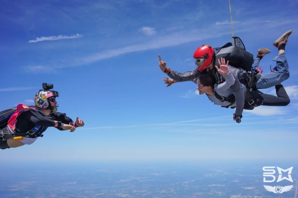 tandem skydive with videographer